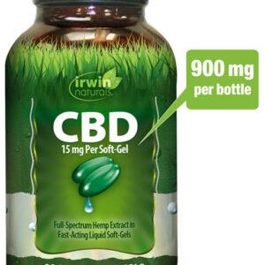 CBD Liquid Soft Gels: 15 mg - 60 count